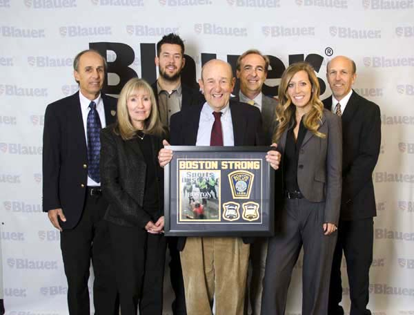 The Blauer Team Pictured above, left to right: Michael Blauer, Sharyn Proia, Adam Blauer, Charles Blauer (holding plaque) Billy Blauer Blauer (behind Charles), Ali Blauer, Stephen Blauer (on the end).