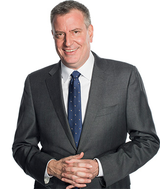 Mayor Bill de Blasio is the 109th Mayor of New York City.