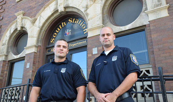 Albany, NY police officers Christopher Stiles and Philip Durand were in the right place at the right time and managed to save the day.