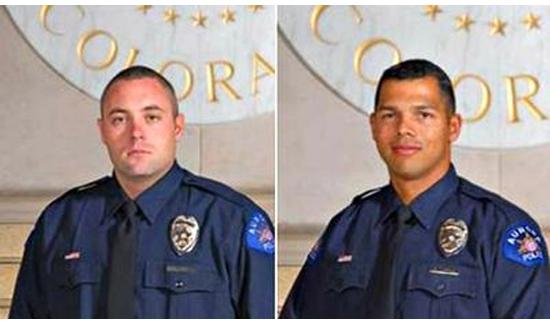Aurora Officers Craig Hess (left) and Robert Little.