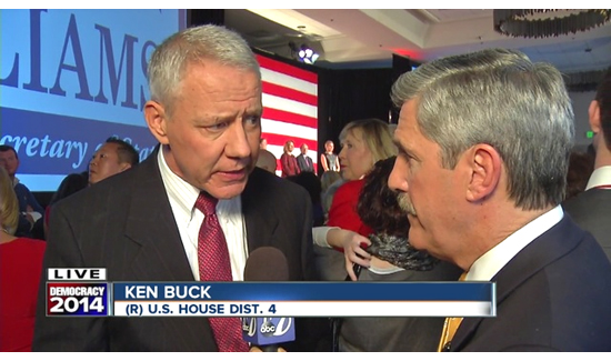 Ken Buck (above left) is the Weld County District Attorney and congressman-elect for Colorado's 4th Congressional District.