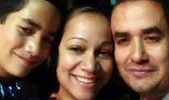 The Ramos family in happier times: Left to right Jaden, his mom Maritza, - eric-ramos-family-nypd