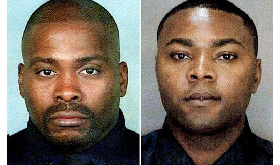 NYPD officers Jay Andrews (left) and James Nemorin (right)