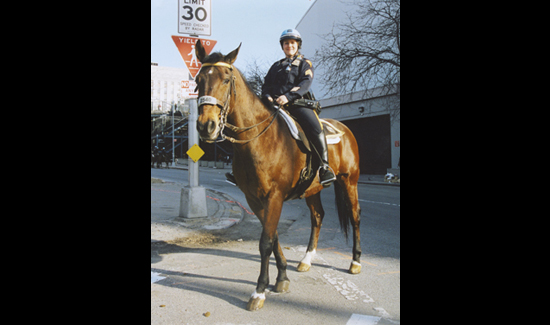 Stefanie learned to ride horses while growing up in Kabul, Afghanistan. She was a sergeant in the NYPD's Mounted Unit for several years.