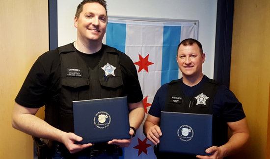 Chicago P.D. heroes: Sergeant John Conneely (left) and Officer Michael Modzelewski
