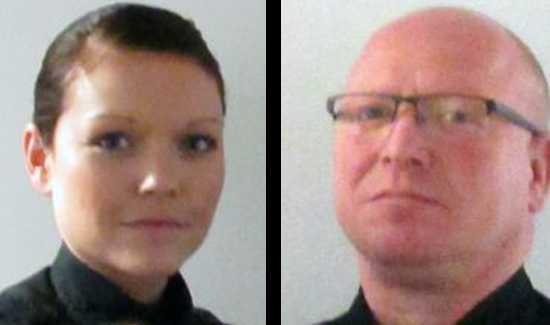 Steuben County sheriff's deputies Brooke Payne (L) and Todd Terwilliger (R) (Photo: Steuben County Sheriff's Office)