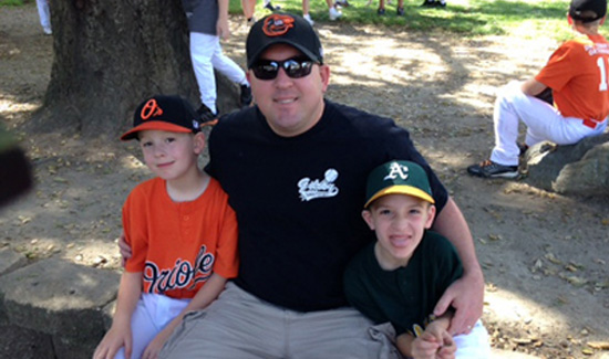 San Jose Police Officer Michael Katherman—pictured here with his two young sons, Josh and Jason— was killed in a traffic collision while on patrol on June 14, 2016. A nationwide campaign is underway to send Michael's sons challenge coins from every agency, so please help if you can.