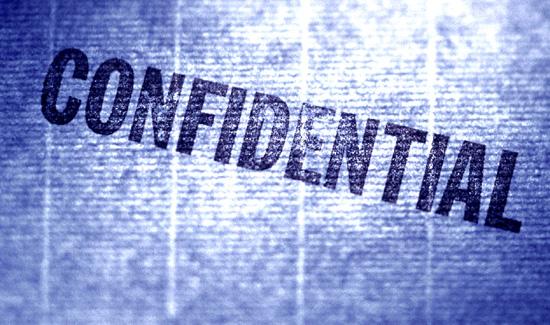 Confidential blue