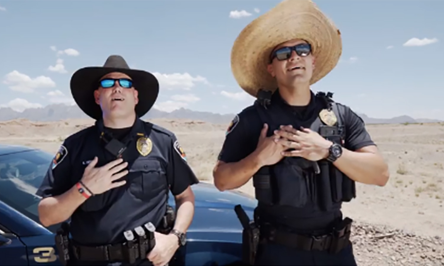 Toby Keith tips hat to New Mexico police for their line