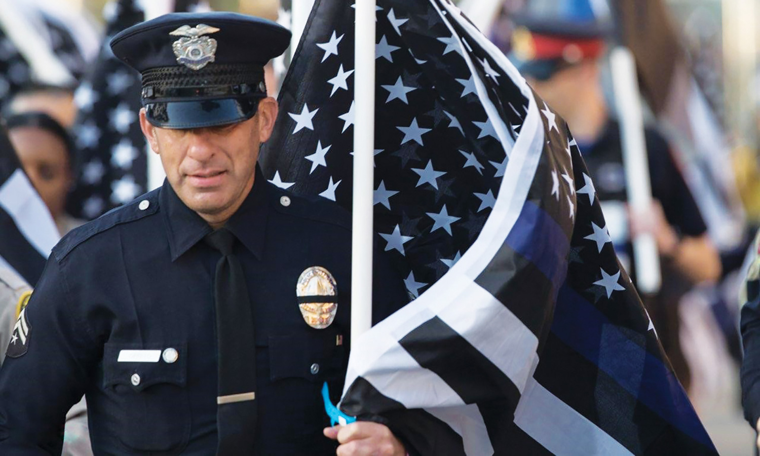 LAPD officer pays tribute to heroes and remembers the friend who changed  his life
