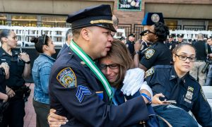 Hero NYPD cops honored for risking lives to protect fallen comrade