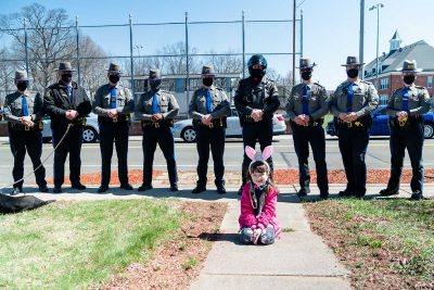 A special assignment -Three departments join to deliver Easter gifts