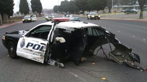 Negligent police driving: the self-inflicted wound