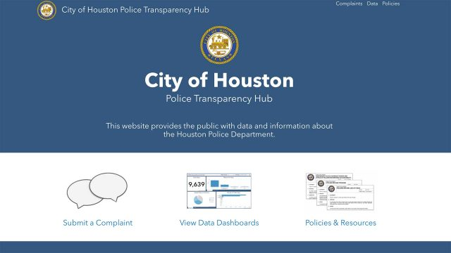 """Houston police launch """"transparency hub"""" to build trust with public"""