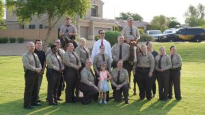 Maricopa County Sheriff's Office deputies escort daughter of fallen officer to first day of school