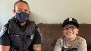 Police officer raises money to give boy with cerebral palsy new van